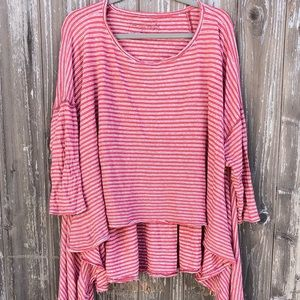 Free People Distressed Stripe Top